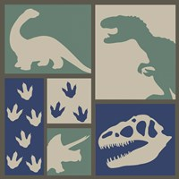 Dino Collage Fine Art Print