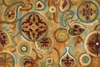 Burnt Paisley and Mandalas Fine Art Print