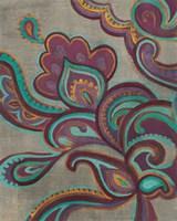 Bohemian Paisley I Aubergine Fine Art Print