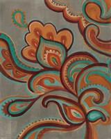 Bohemian Paisley I Turquoise Neutral Fine Art Print