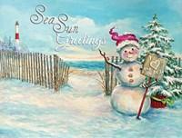 Sea Sun Greetings Fine Art Print