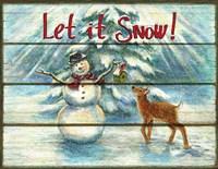 Let It Snow - Winter Fine Art Print