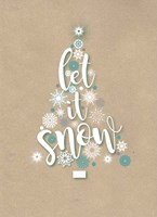 Let It Snow - Tree Fine Art Print