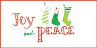 Joy and Peace Stockings Fine Art Print