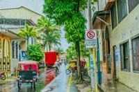 Rainy Street Iquitos Peru Fine Art Print