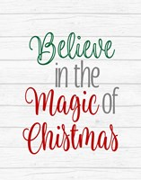 Believe in the Magic of Christmas Fine Art Print