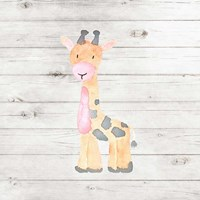 Watercolor Giraffe Fine Art Print