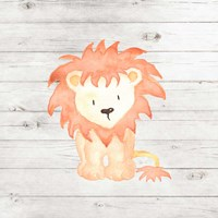 Watercolor Lion Fine Art Print