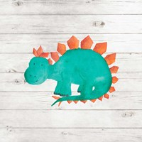 Water Color Dino II Fine Art Print
