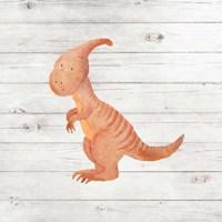 Water Color Dino III Framed Print