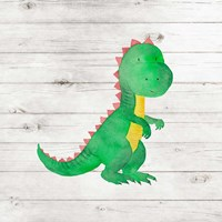 Water Color Dino IV Fine Art Print