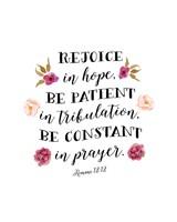 Romans 12:12 Fine Art Print