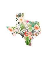 Texas Floral Collage I Fine Art Print
