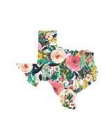 Texas Floral Collage II Fine Art Print