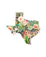 Texas Floral Collage III Fine Art Print