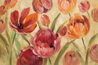 Expressive Tulips Neutral Fine Art Print