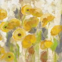 Floating Yellow Flowers V Framed Print