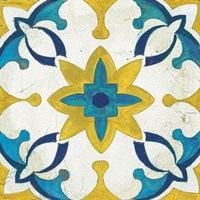 Andalucia Tiles D Blue and Yellow Fine Art Print
