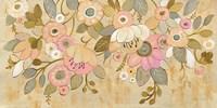 Decorative Pastel Flowers Fine Art Print