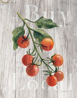Market Vegetables IV on Wood Fine Art Print