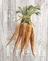 Market Vegetables I on Wood Fine Art Print