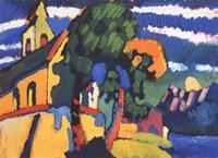 Village Church in Riegsee, Bavaria, 1907 Fine Art Print