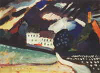 Murnau, Schloss und Kirche II. Ca. 1909 Fine Art Print