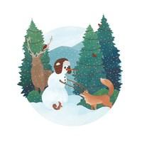 Winter Friends I Framed Print