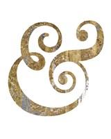 Gilded Hipster Ampersand Fine Art Print