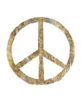 Gilded Hipster Peace Fine Art Print