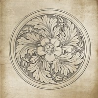 Rosette II Neutral Fine Art Print