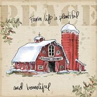 Country Christmas I Fine Art Print