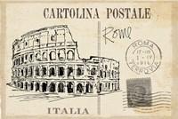 Postcard Sketches III v2 Fine Art Print