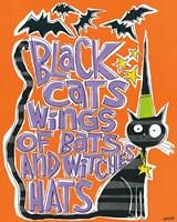 Bats and Black Cats II Fine Art Print