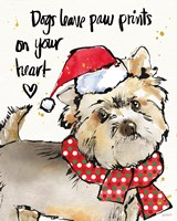 Strike a Paws VII Christmas Framed Print