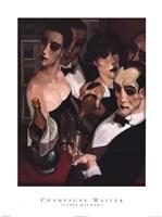 Champaign Waiter Fine Art Print