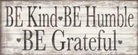 Kind Humble Grateful Wood Sign Fine Art Print