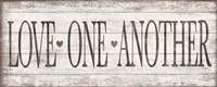 Love One Another Wood Sign Fine Art Print