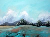 Turquoise Landscape Fine Art Print