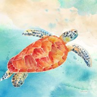 Sea Splash Sea Turtle Fine Art Print