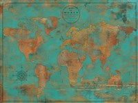 Rustic World Map Fine Art Print