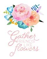 Flowers in Full Bloom I Fine Art Print