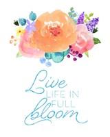 Flowers in Full Bloom II Fine Art Print