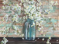 Blossoms in Mason Jar Fine Art Print