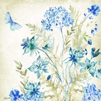 Wildflowers and Butterflies Square II Fine Art Print