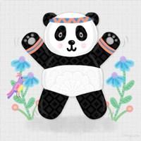 Tumbling Pandas III Fine Art Print