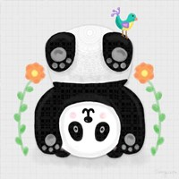 Tumbling Pandas IV Fine Art Print