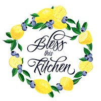 Lemon Blueberry Kitchen Sign I Fine Art Print