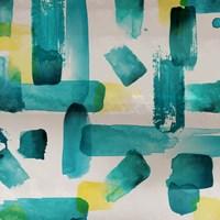 Aqua Abstract Square I Fine Art Print