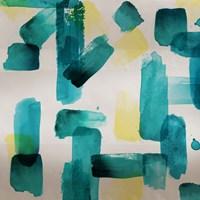 Aqua Abstract Square II Fine Art Print